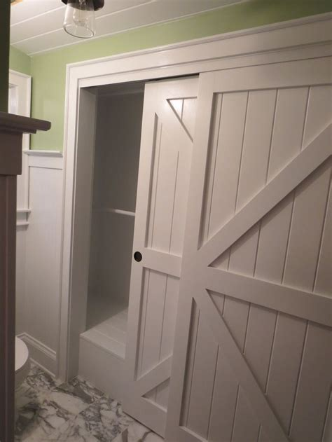 Barn Doors For Closets Closet Barn Doors In The Bathroom After Student Housing Pint