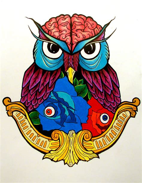 Color Owl By Katomzzz On Deviantart Really Owl Drawings With Color
