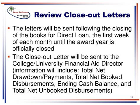 Letter Closing Luck Ppt Direct Loan Reconciliation And Closeout Best Practices Powerpoint Presentation Id 236650