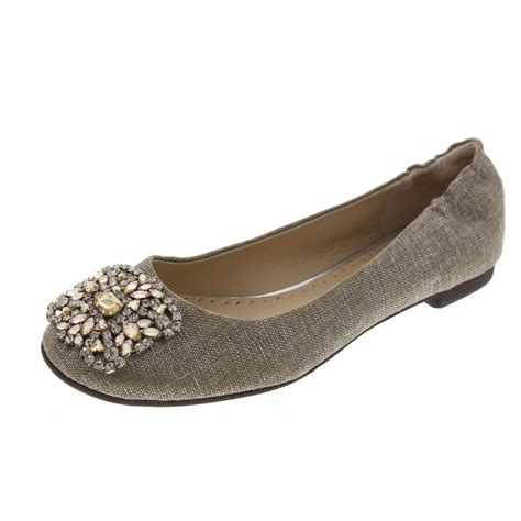 adrienne vittadini flat shoes adrienne vittadini sapphire silver linen metallic ballet