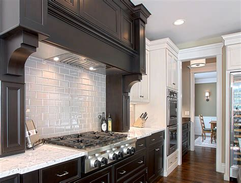 pictures of subway tile backsplashes in kitchen gray subway tile backsplash kitchen traditional with white