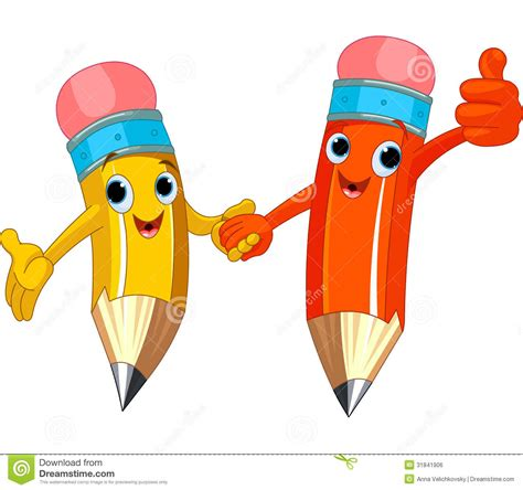 Character Pencil pencil characters royalty free stock image image 31841906
