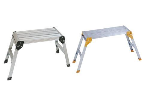 folding aluminum work bench aluminium step bench folding platform work platform work