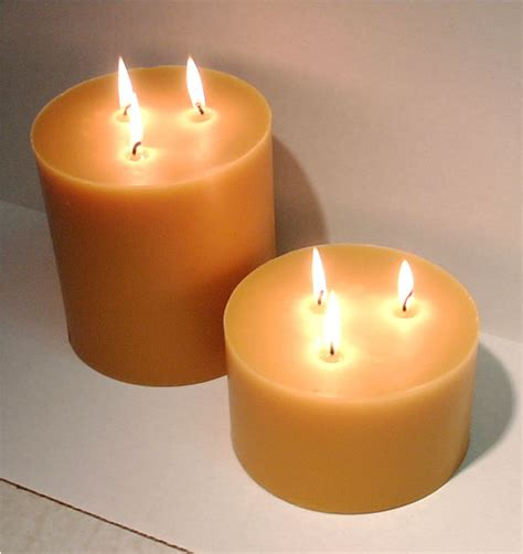 Big Candles Beeswax Wick Large Pillars 6 X 6 3 X 6 And A