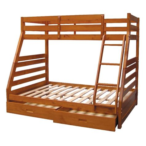 bunk bed single atlanta single bunk bed walnut