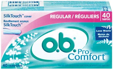 ob pro comfort ob pro comfort tons regular 40 count boxes pack of 3