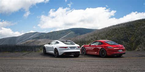 jaguar f type s coupe v porsche cayman gts comparison