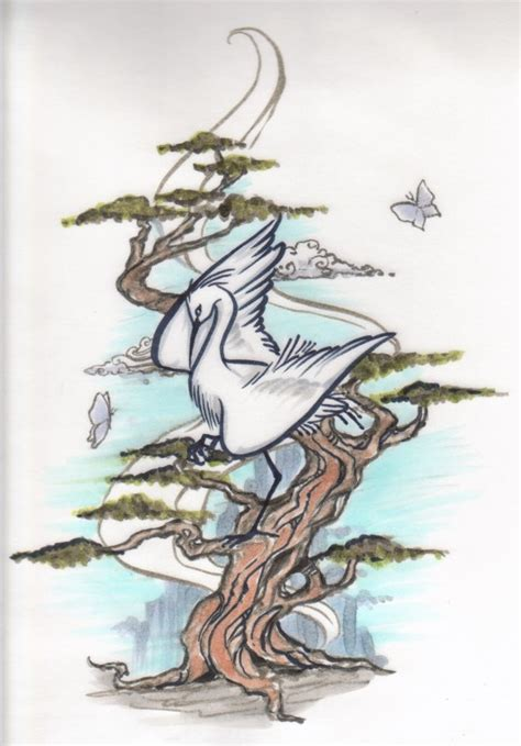 japanese crane tattoo designs