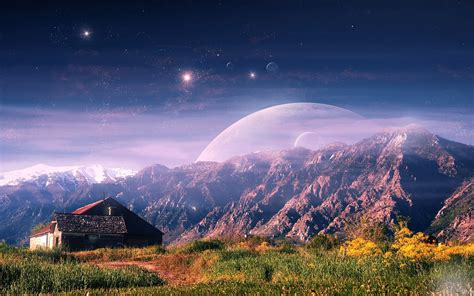 house planet download wallpaper 1920x1200 mountain house planet