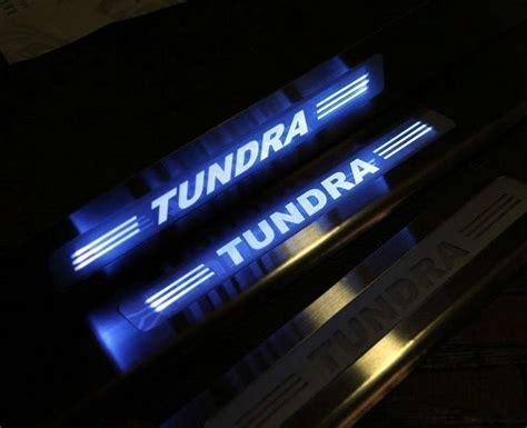 Sillplate Led Toyota Camry blue led light illuminate 4 door sill scuff plate guard for toyota tundra 08 16 ebay