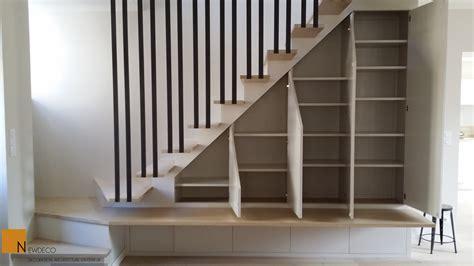 Meuble Dessous Escalier by Amenagement Dessous Escalier Avec Rangement Chaussures