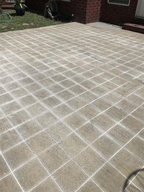 Can You Tile Concrete Patio by Diy Cement Tile Concrete Patio Southern Revivals