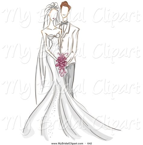 drawing studio free wedding couples clipart 33