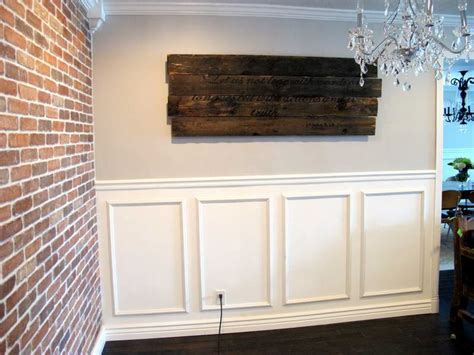 Putting Wainscoting On Walls Walls Installing Wainscoting With Brick Walls Things You