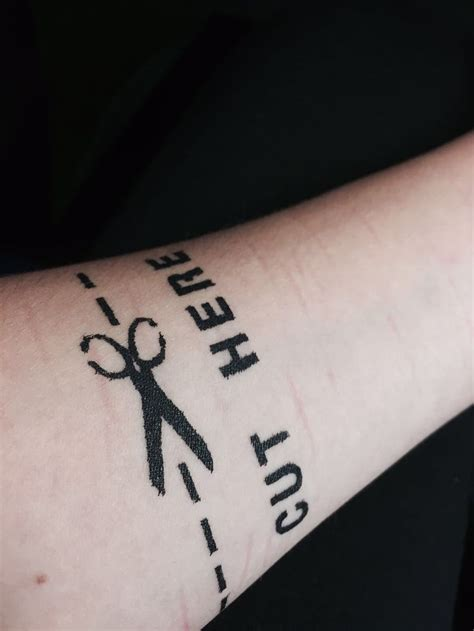 tattoo quotes for cutters cut here self harm tattoo teen depression cutting
