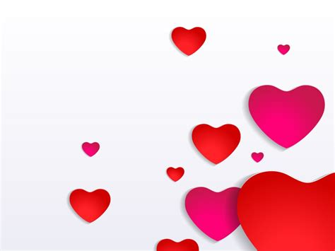 valentines day powerpoint templates love red free ppt