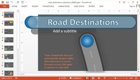 interactive road powerpoint template with animated timeline