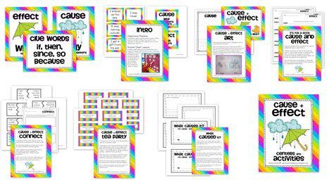 printable cause and effect poster 2nd grade cause and effect worksheets worksheets for all