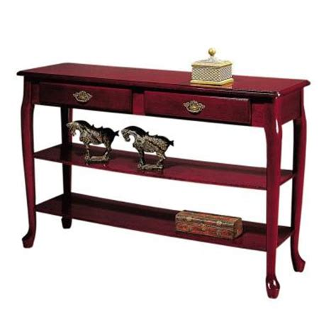 home depot sofa table home decorators collection 47 in w traditional mahogany