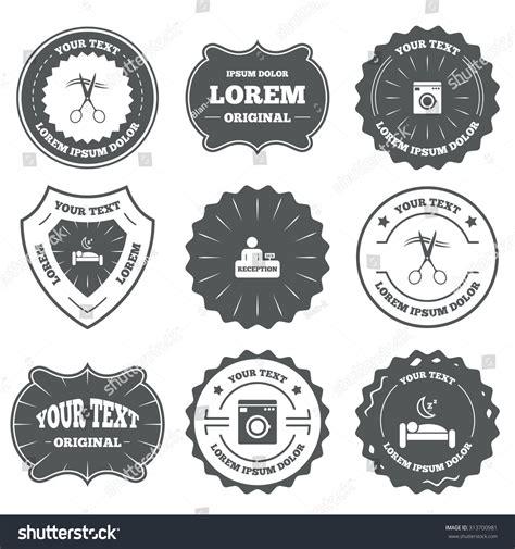 hairdresser retro design elements vector vintage emblems labels hotel services icons stock vector