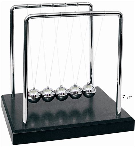 swinging balls on desk newton s cradle 7 0 quot scientificsonline com