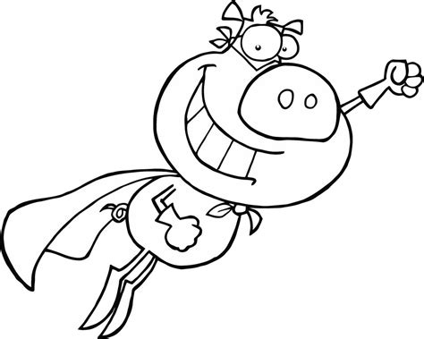 coloring page of cartoon superman for preschoolers