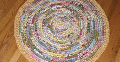 pastel braided rugs cotton fabric crocheted rag rug pastel by eeecrafter braided rugs