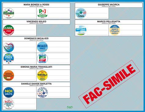 di legnano garbagnate milanese info elezioni fac simile scheda elezioni comunali