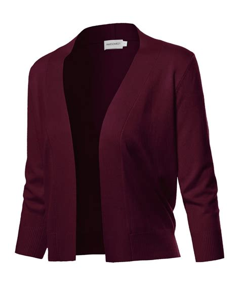 Cardigan Layer s solid soft stretch 3 4 sleeve layer bolero layer cardigan fashionoutfit