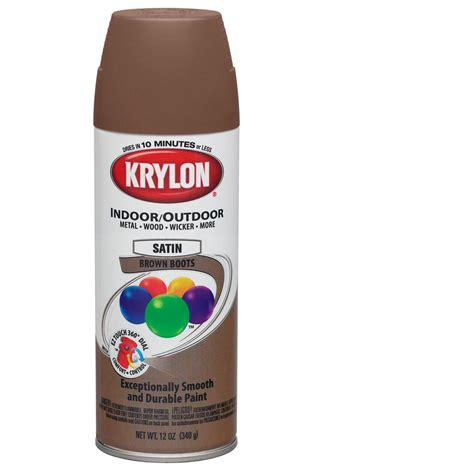 spray painter lowes shop krylon 12 oz brown boots satin spray paint at lowes