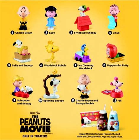Happy Meal Snoopy Peanut Periode I 2015 new mcdonalds peanuts the complete 12 set