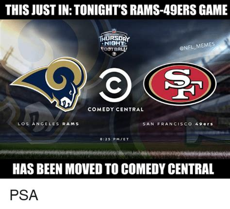 Rams Memes - this just in tonight s rams 49ers game thursday night