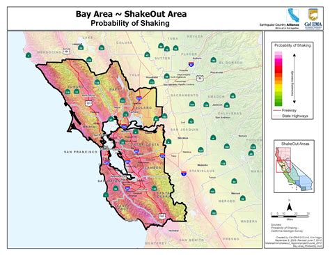 california earthquake probability map san francisco earthquake map risk