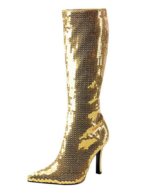 disco boots gold