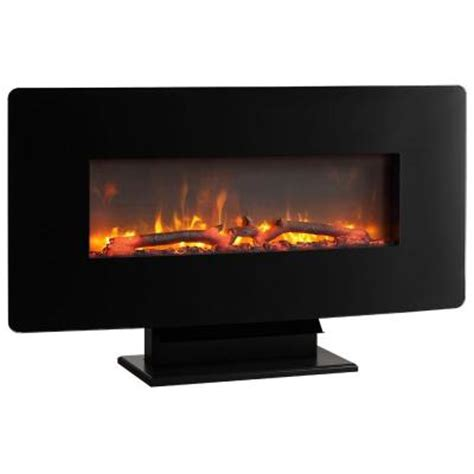 electric fireplace heater home depot hton bay brookline 36 in wall mount electric fireplace