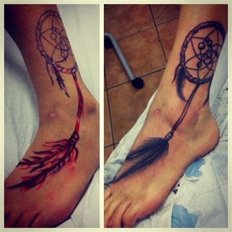 dreamcatcher tattoo around ankle 35 dreamcatcher ankle tattoos collection