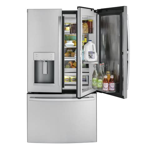 ge 27 8 cu ft french door refrigerator in slate ge 174 27 8 cu ft french door refrigerator with door in