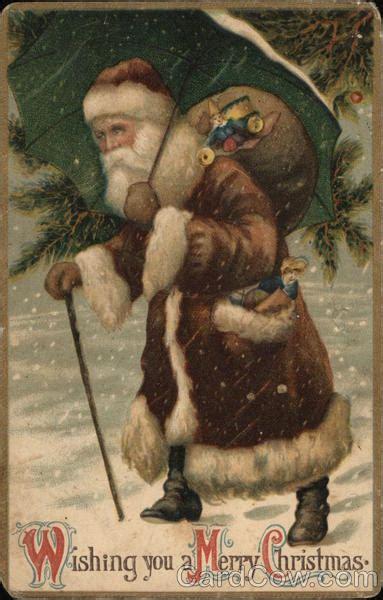 santa  brown robe santa claus