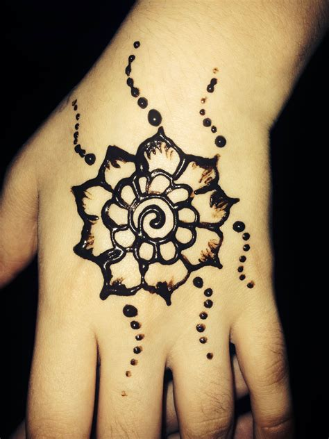 henna tattoos cute henna small flower design on for