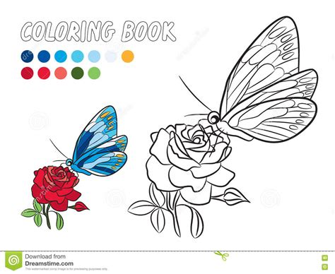 yellow rose coloring page blue butterfly with yellow dot wings red rose coloring