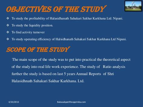 Mba Project Finance Ppt by Ratio Analysis Project Ppt Of Shsskl Nipani Mba Finance