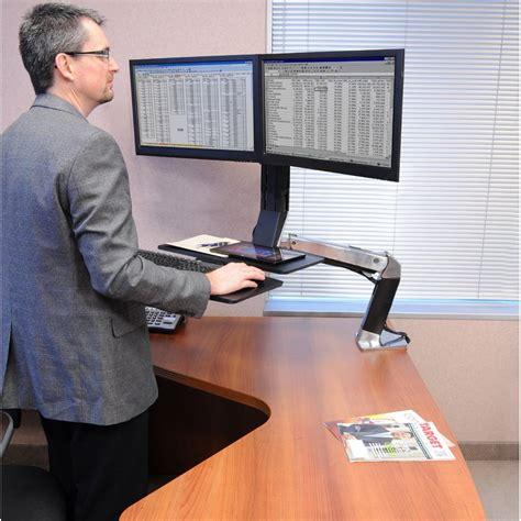 how to adjust ergotron standing desk standing desk ergotron 24 316 026 workfit a dual monitor