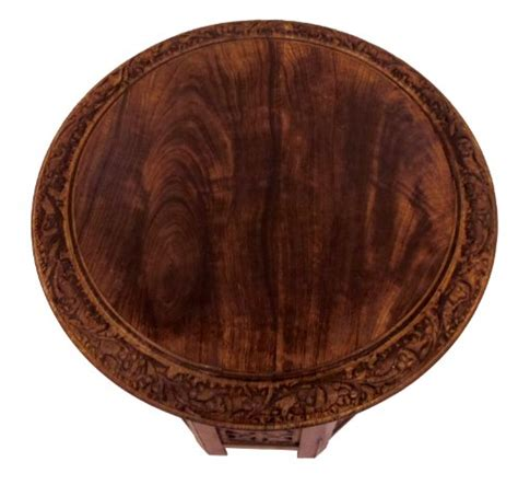 18 inch wood table top cotton craft jaipur solid wood carved accent coffee