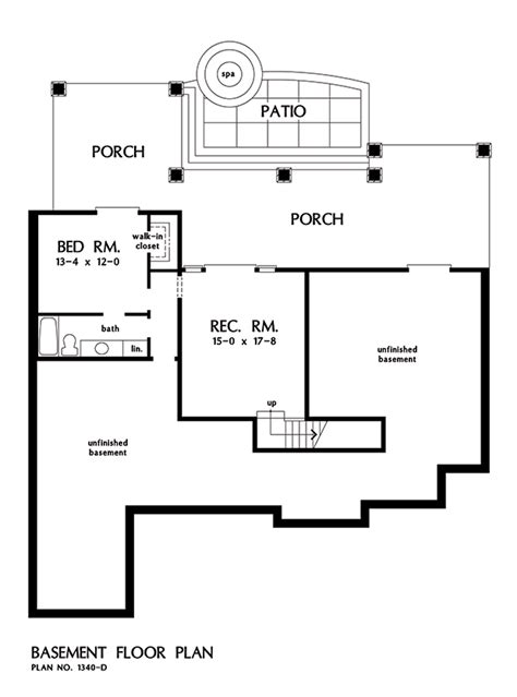 walkout basement floor plans craftsman style ranch with walkout basement hwbdo77120 craftsman walkout basement floor plans