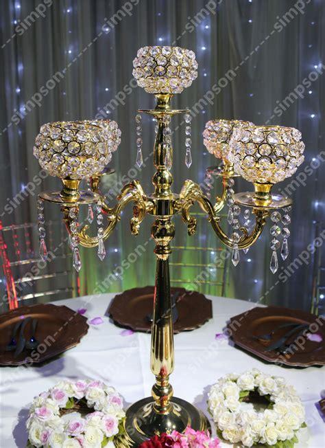 Aliexpress Com Buy Crystal Wedding Centerpiece Crystal Candelabra Wedding Centerpieces