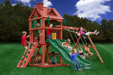swing set cheap cheap gorilla double down playset