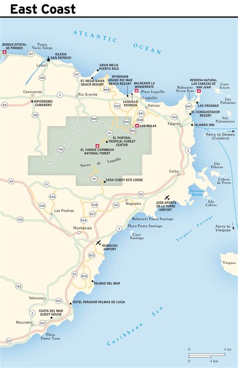 detailed map of us east coast large detailed east coast map of