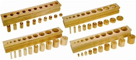 alison s montessori cylinder blocks and knobless cylinders