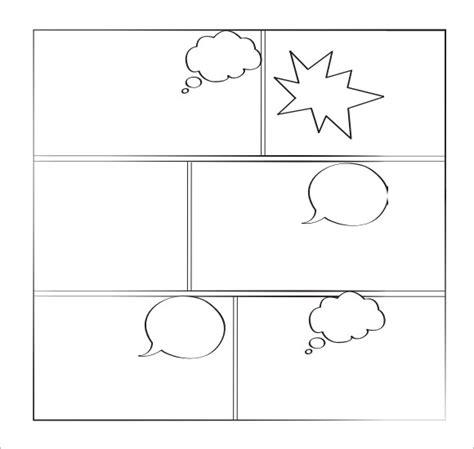 printable blank comic template for 7 comic book sles sle templates