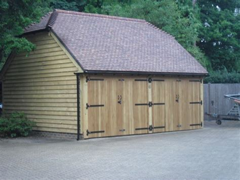 Half Hip Roof 2 Bay Oak Garage With A Half Hipped Roof